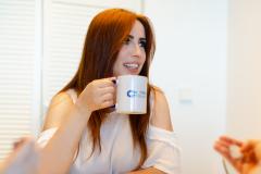 W ciągu dnia mamy czas na towarzyskie rozmowy przy kawie.